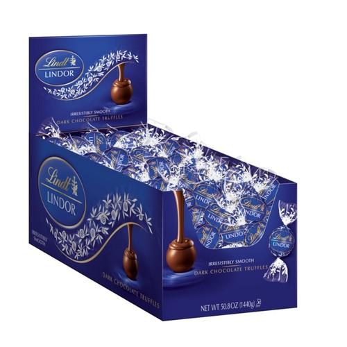 Lindt Lindor Dark Chocolate Truffles, Box Of 120
