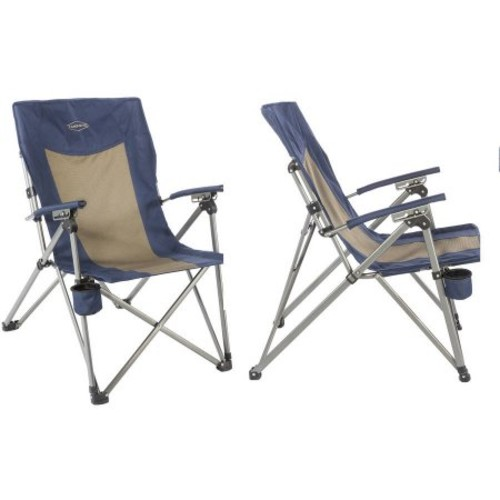 Kamp-Rite 3-Position Hard Arm Reclining Chair with Cup Holder
