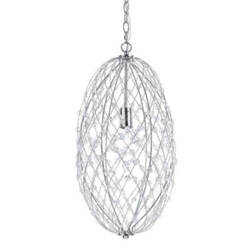 AF Lighting Silver Web Horizons 1-Light Globe Pendant