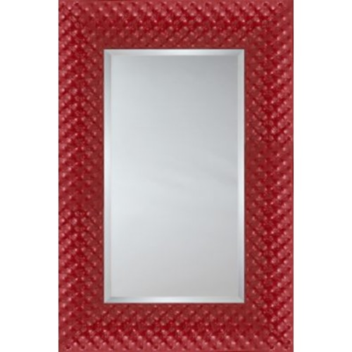Mirror Image Home Mirror Style 81181 - Red Quilted Cushion; 48.75 x 68.75