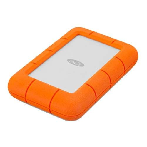 LaCie Rugged Mini Portable Hard Drive - 1TB HDD, 1x USB 3.0, 5400 rpm, 130MB/s Interface Transfer Rate, 4ft Drop Resistance, 1-ton car Crush Resistance, Rain Resistance, for PC and Mac - LAC301558