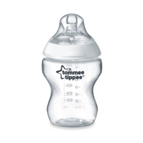 Tommee Tippee Closer to Nature 9-Ounce Clear Baby Bottle