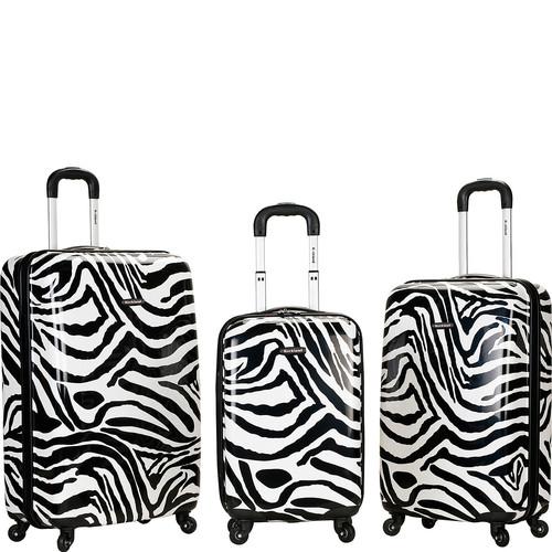 Rockland Luggage Safari 3 Piece Hardside Spinner Set