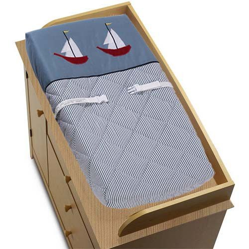 Sweet Jojo Designs Come Sail Away Collection Changing Pad Cover