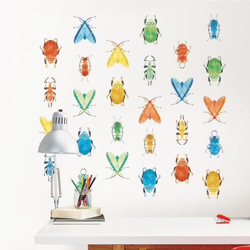 WallPOPs Multi-Color Love Bugs Wall Decal