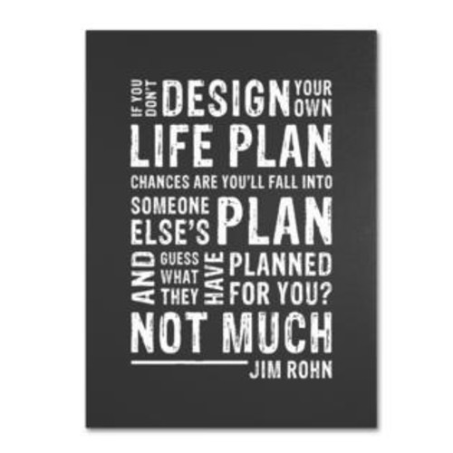Trademark Global Design Your Own Life by Megan Romo Textual Art on Wrapped Canvas Size: 19