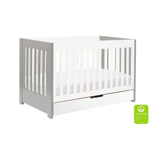 Babyletto Mercer 3-in-1 Convertible Crib with Toddler Bed Conversion Kit, Espresso [Espresso, Crib]