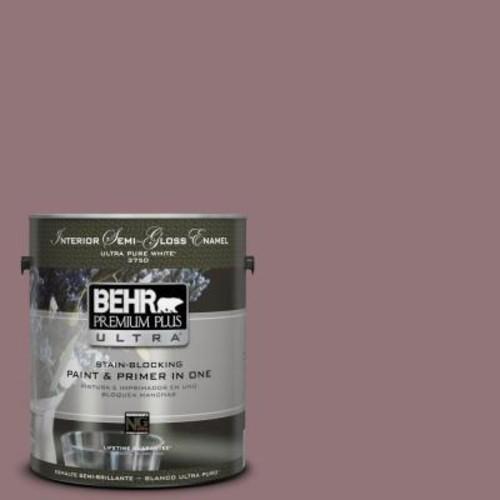 BEHR Premium Plus Ultra 1 gal. #110F-5 Phantom Hue Semi-Gloss Enamel Interior Paint and Primer in One