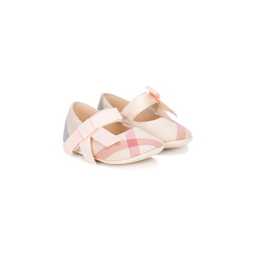 Classic Check ballerina shoes