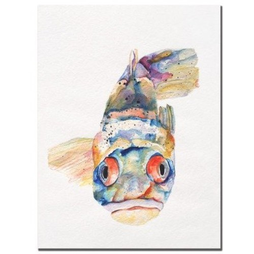 Blue Fish by Pat Saunders-White, 18x24-Inch Canvas Wall Art [18 by 24-Inch]