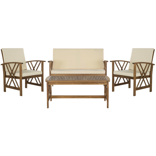 Safavieh Fontana 4 PC Outdoor Patio Set