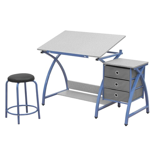 Comet Center with Stool in Blue / Spatter Gray [Blue]