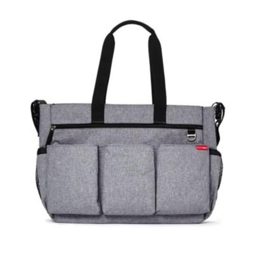 SKIP*HOP Duo Double Signature Diaper Bag in Heather Grey