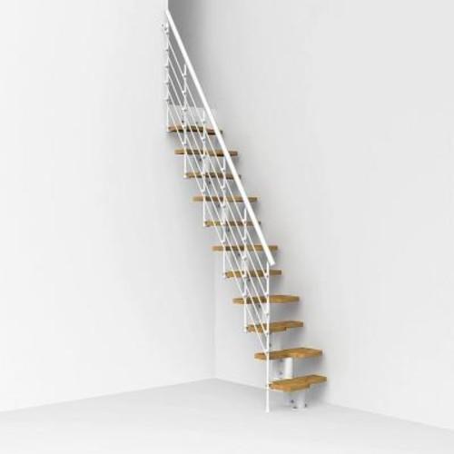 Arke Oak30.Xtra 22 in. White Modular Staircase Kit