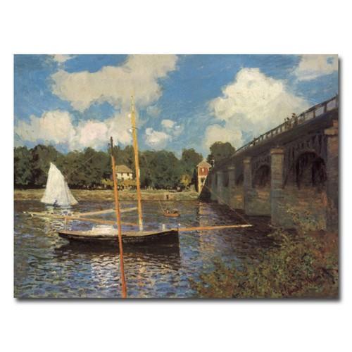 Trademark Fine Art Claude Monet, 'Bridge at Argenteuil II' Canvas Art 35x47 Inches