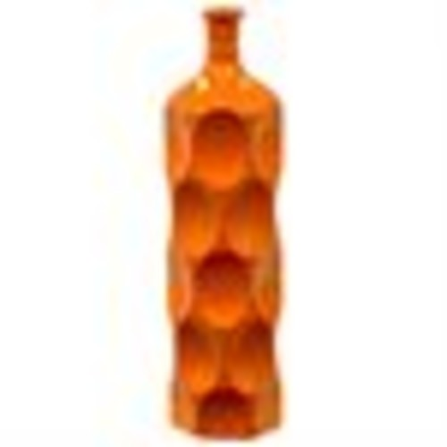 Orange Ceramic Bottle Vase