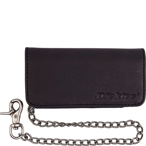Dickies Trucker Wallet with Embossed Logo and Metal Chain