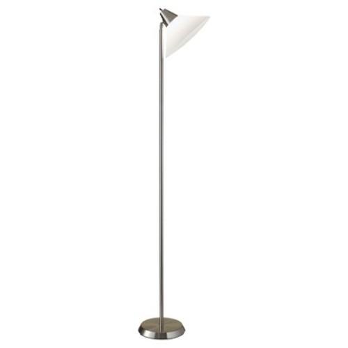 Adesso Swivel Floor Lamp - Silver