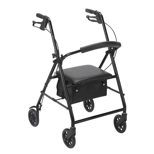 Drive Medical Rollator with Wheels, Black