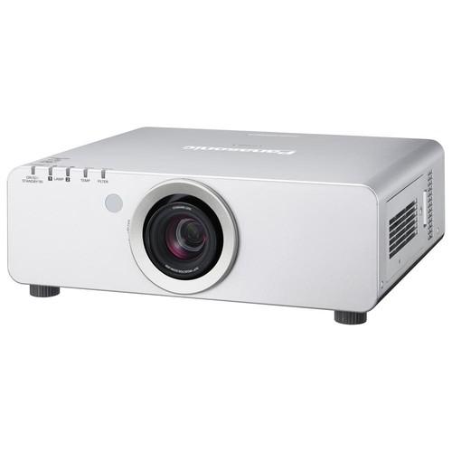 Panasonic PT-DZ680US DLP Projector - 1080p - HDTV - 16:10 - F/1.7 - 2 - UHM - 280 W - NTSC, PAL, SECAM - 1920 x 1200 - WUXGA - 2,000:1 - 6000 lm - HDMI - VGA In - Fast Ethernet - 750 W - Silver Color - PTDZ680US