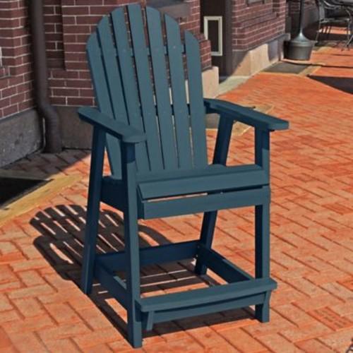 Longshore Tides Deerpark Dining Arm Chair; Nantucket Blue