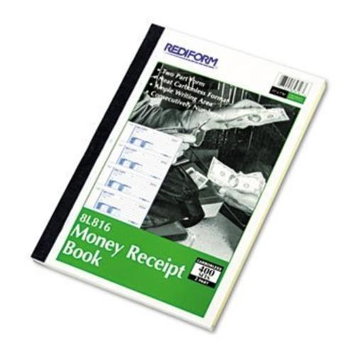 Rediform Money Receipt Book, 2 3/4 x 7, Carbonless Duplicate, 400 Sets/Book