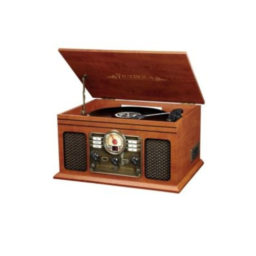 Innovative Technology - Victrola 6-In-1 Nostalgic Bluetooth Record Player