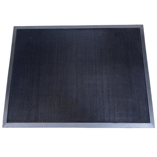 Matsinc. Fingertip Black 24 in. x 32 in. Rubber Door Mat