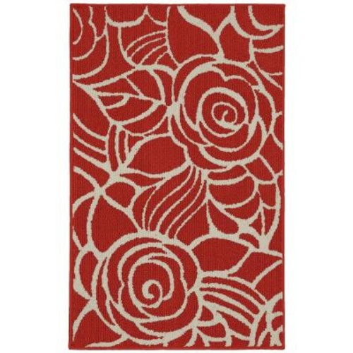 Garland Rug Rhapsody Santa Fe Coral/Ivory 3 ft. 4 in. x 5 ft. Accent Rug