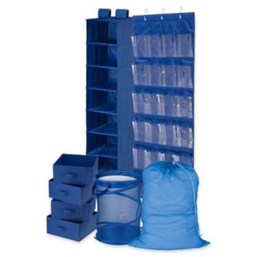 Honey-Can-Do 8-Piece Room and Laundry Organizer in Blue