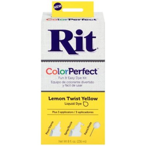Rit Dye ColorPerfect 8 oz. Fabric Dye Kit, Lemon Twist Yellow