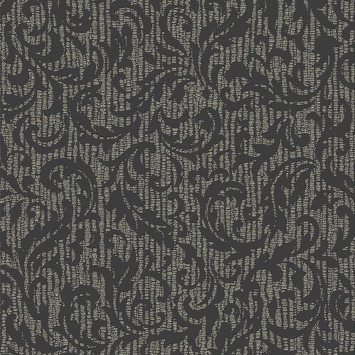 Graham & Brown Charcoal and Champagne Cashmere Wallpaper