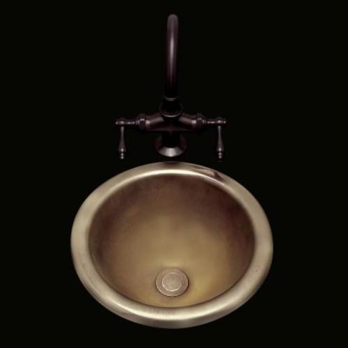 Bates & Bates Donna Self-Rimming Bathroom Sink; Biscuit