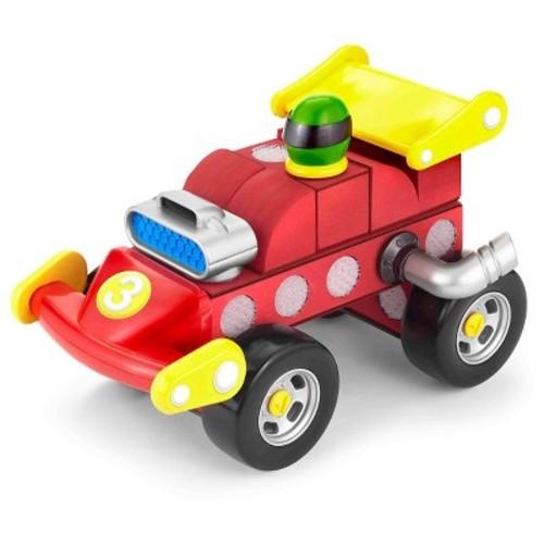 Velcro Kids Deluxe Formula Race Car 21 Piece Set