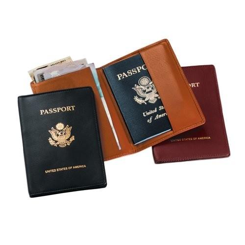 Royce Leather Passport Holder and Travel Document Organizer [Green]