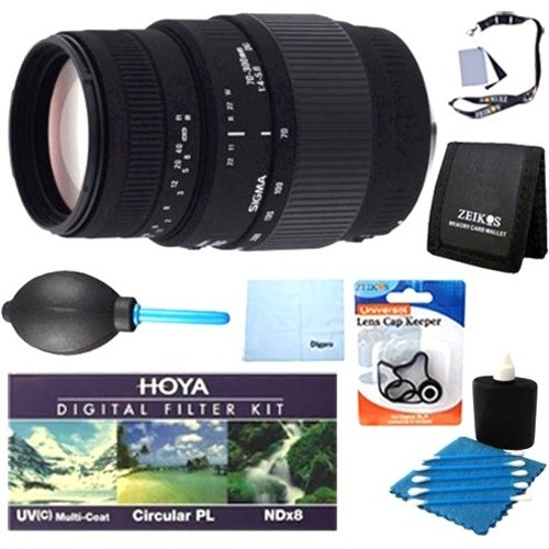 Sigma - 70-300mm f/4-5.6 DG Macro Telephoto Zoom Lens for Canon DSLRs Pro Lens Kit