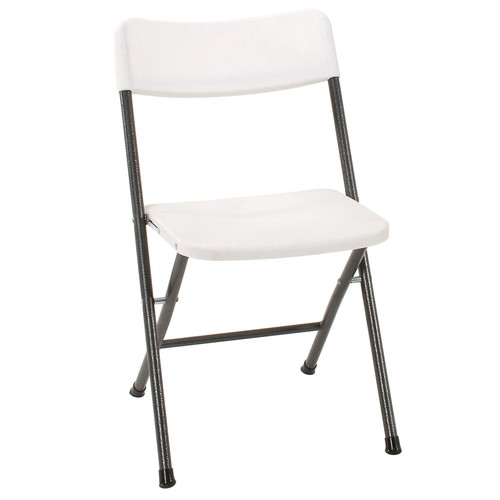 Cosco Resin Folding Chair 4 Pack (White Speckle Pewter)