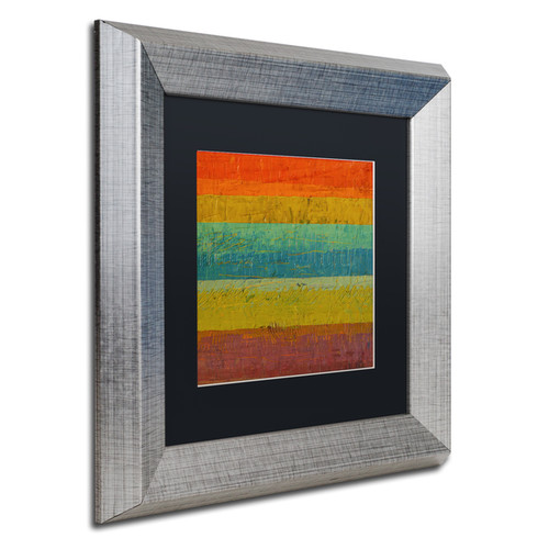 Michelle Calkins 'Red Line' Matted Framed Art [option : 11x11]