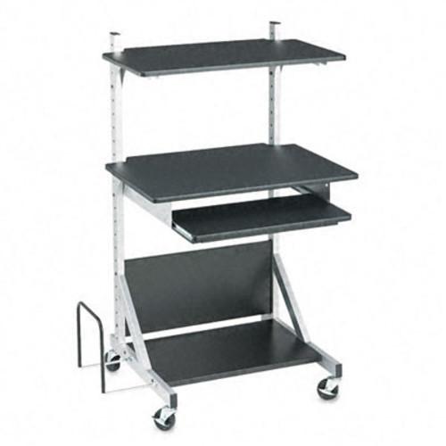 BALT Alekto Compact Sit & Stand Workstation, 30 x 24 x 52, Black/Silver