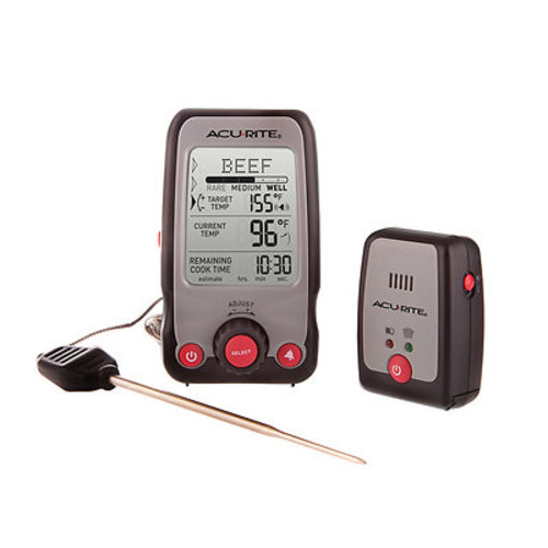 AcuRite Digital Cooking Thermometer with Wireless Remote Pager