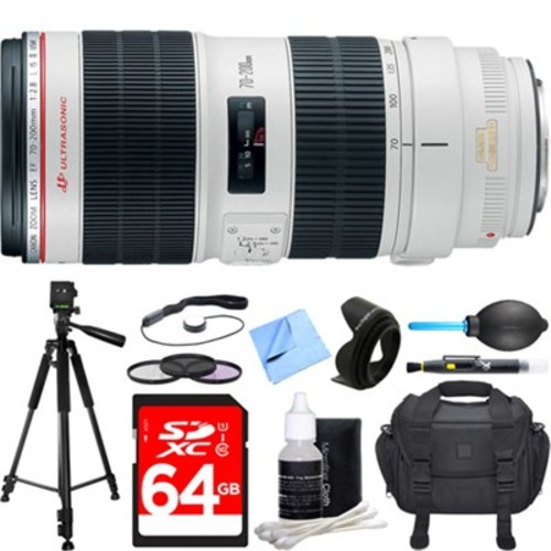 Canon EF 70-200mm f/2.8L IS II USM Telephoto Zoom Lens Deluxe Accessory Bundle