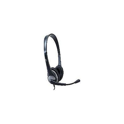 Cyber Acoustics AC-204 Semi-Open Headset With Mic, Black