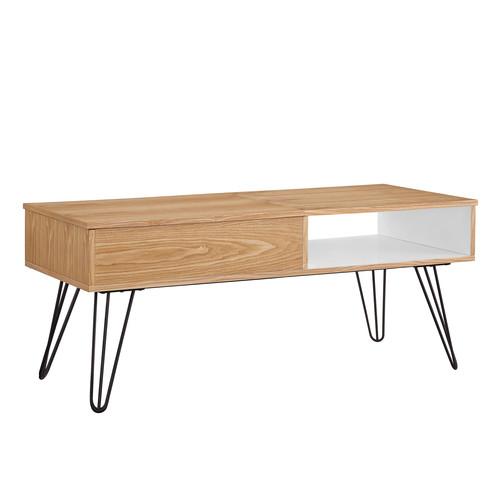 Linon Perry Coffee Table - White/Orange