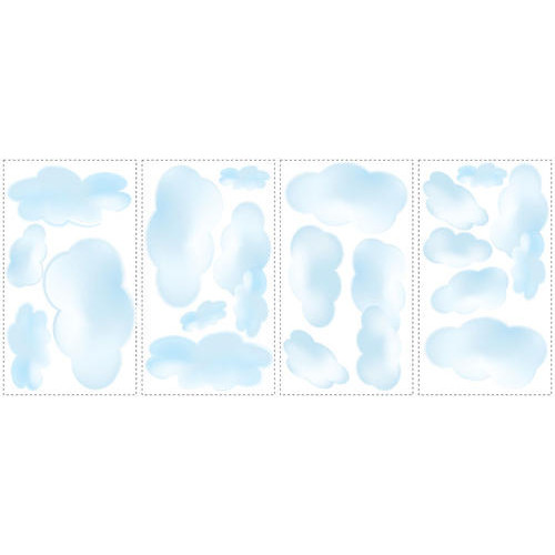 Roommates Decor RMK1250SCS Clouds Peel and Stick Wall Decals
