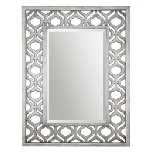 Global Direct 40 in. x 31 in. Silver Wood Framed Mirror