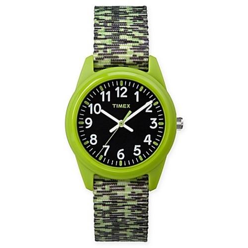 Timex Our Time Machines Children's 32mm Analog Watch w/ Green/Black Nylon Strap