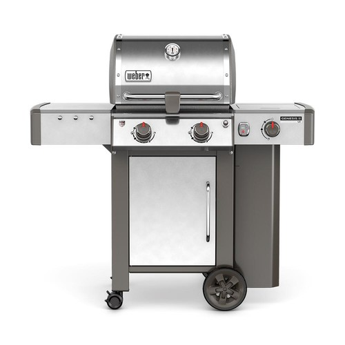Weber Genesis II LX S-240 2-Burner Propane Gas Grill in Stainless Steel with Built-In Thermometer and Grill Light