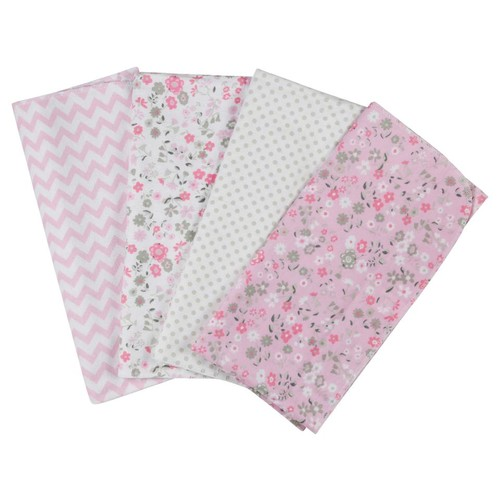 Laura Ashley Annabel 4 Pack Receiving Blankets