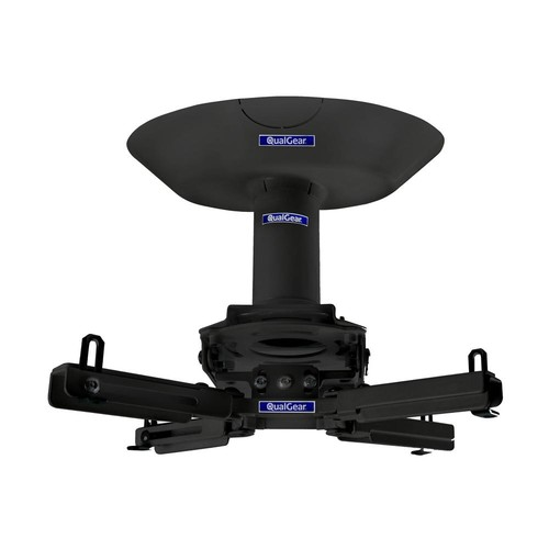 QualGear Pro-AV Projector Mount Kit with a Single Joist Ceiling Adapter, 3 in. 1.5 in., Black