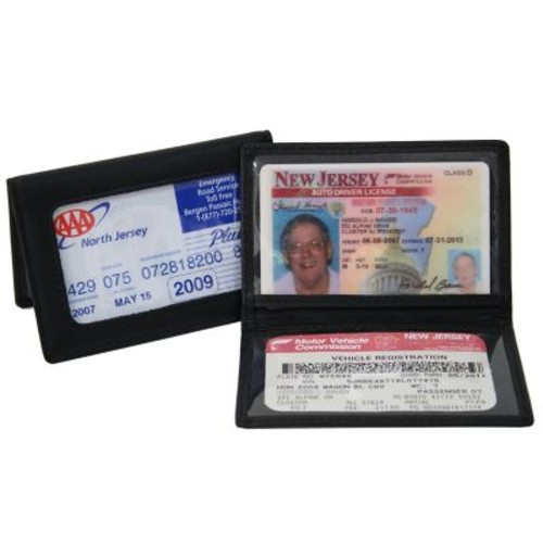 Royce Leather View Id Holder Black